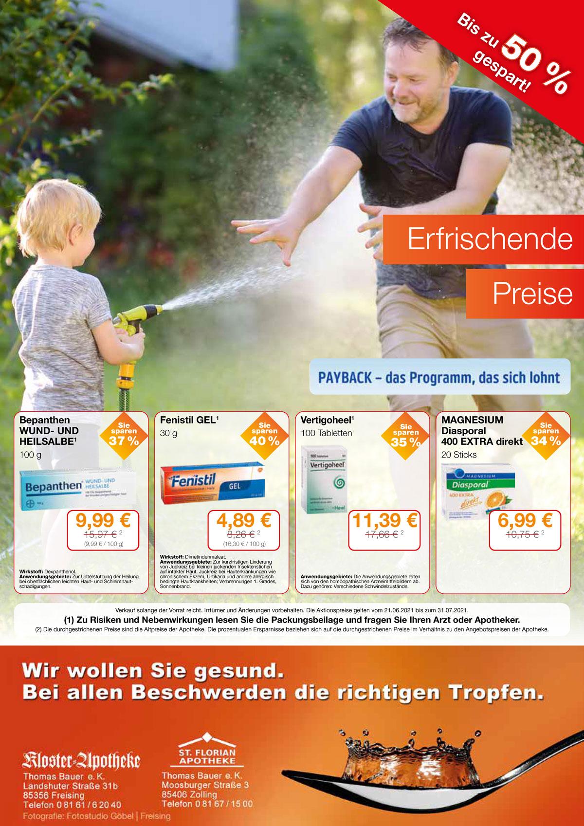 Aktuelle Angebote der Florian-Apotheke