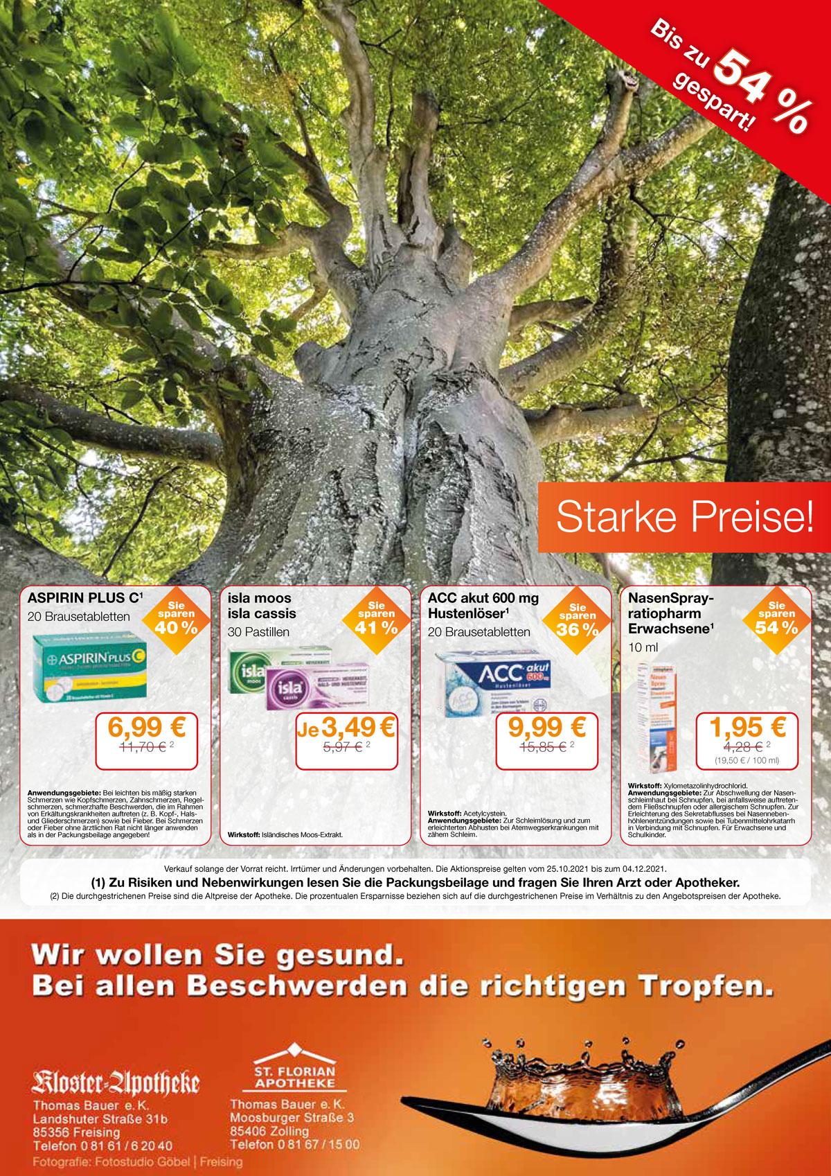Aktuelle Angebote der Florian- und Kloster-Apotheke